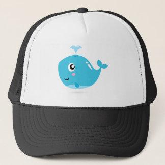 Boné T-shirt maravilhosos com azul da baleia