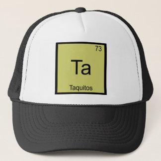 Boné Ta - T engraçado do símbolo do elemento da química