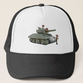 Boné Tanque e soldados dos desenhos animados na