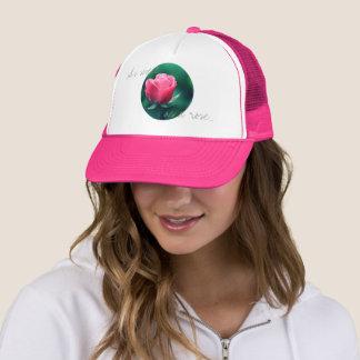 Boné Tão doce quanto um chapéu da flor do rosa