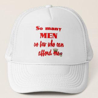 Boné Tão muitos homens tão poucos que podem me ter