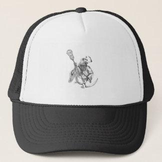 Boné Tatuagem de Pólo da defesa do Lacrosse do Ceifador