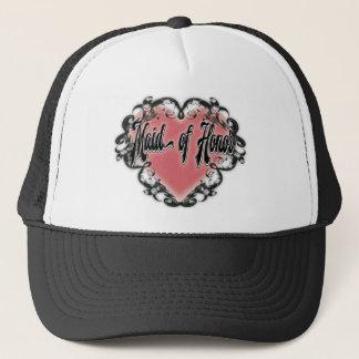 Boné tatuagem do coração do vintage da madrinha de