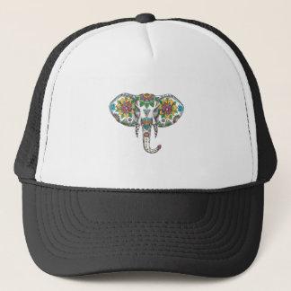 Boné Tatuagem principal da mandala do elefante