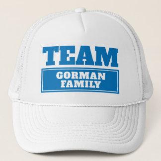 Boné Team o nome personalizado azul da equipe ou o nome