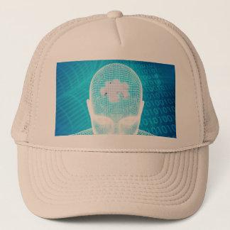 Boné Tecnologia futurista com a microplaqueta do