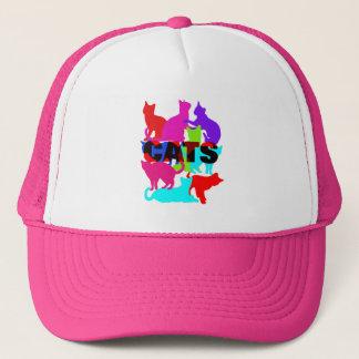 Boné Temático felino colorido dos amantes do gato