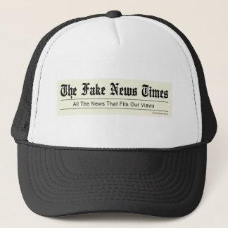 Boné Tempos falsificados da notícia