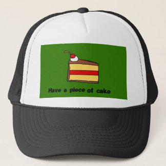 Boné Tenha um pedaço de bolo