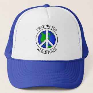 Boné Terra da paz de mundo e chapéu do sinal de paz