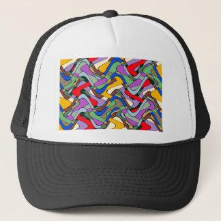 Boné Teste padrão abstrato colorido