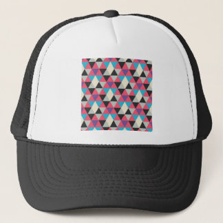 Boné Teste padrão azul e branco cor-de-rosa do