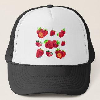 Boné Teste padrão da fruta da morango