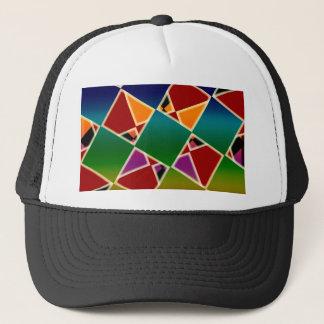 Boné Teste padrão esquadrado colorido telhado