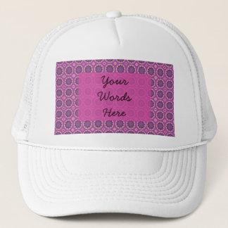 Boné Teste padrão floral cor-de-rosa bonito
