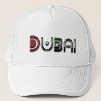 Boné Texto elegante da tipografia de Dubai UAE somente