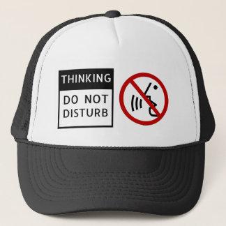 Boné THINKING/DO PARA NÃO PERTURBAR o chapéu do