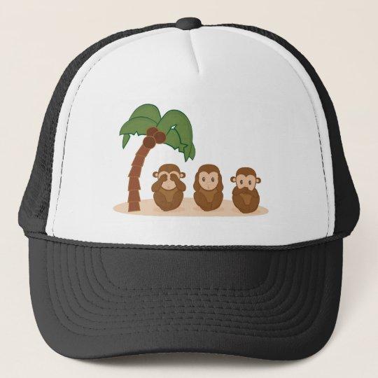 Boné Three little monkeys - três macaquinhos