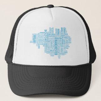 Boné Tipo azul mapa de maior Manchester