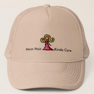 Boné Tipo do cabelo da mamã do chapéu do cuidado