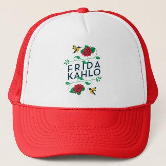 Boné Tipografia floral de Frida Kahlo  