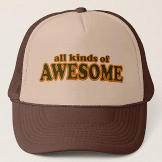Boné Todos os tipos do chapéu impressionante