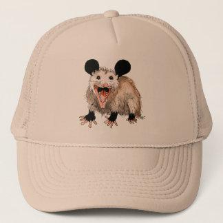 Boné Touca de banho com Opossum handgemaltem velho com