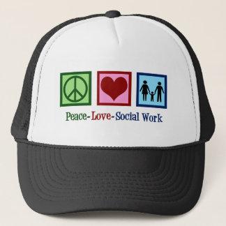 Boné Trabalho social do amor da paz