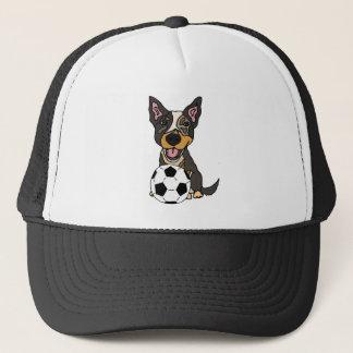Boné Trabalhos de arte australianos do futebol do cão
