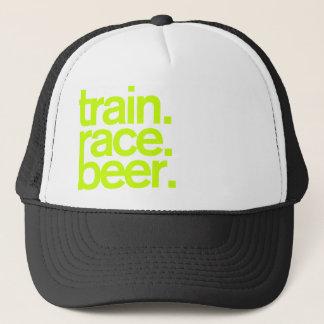 Boné TRAIN.RACE.BEER. Chapéu do camionista