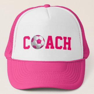 Boné Treinador cor-de-rosa do futebol