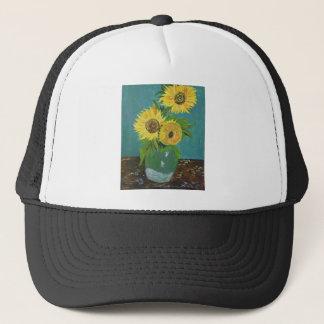 Boné Três girassóis em um vaso, Van Gogh