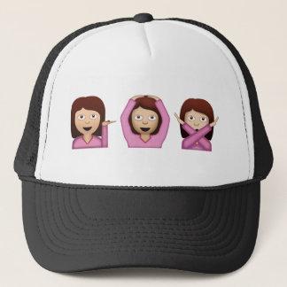 Boné Três meninas Emoji