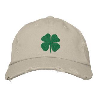 Boné Trevo bordado da folha do irlandês quatro