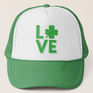 Boné Trevo irlandês do verde do amor do dia de St