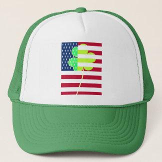 Boné Trevo irlandês St Patrick do trevo da bandeira