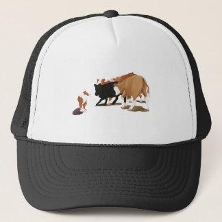 Boné Tri cão australiano vermelho da vaca do pastor