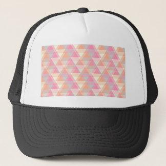 Boné Triângulos cor-de-rosa
