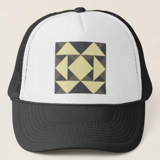 Boné Triângulos do preto e do ouro