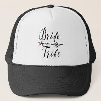 Boné Tribo da noiva com o chapéu do camionista da seta
