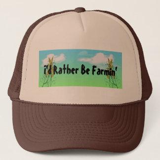 Boné Trigo que cultiva chapéus das colheitas dos