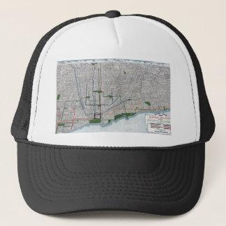 Boné Trilhos elevados e os parques de Chicago 1908