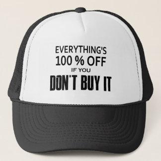 Boné Tudo é 100% fora se você não o compra