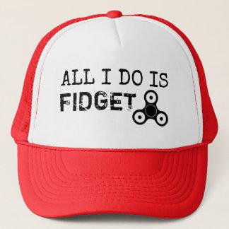Boné Tudo que eu faço é chapéu engraçado do girador da