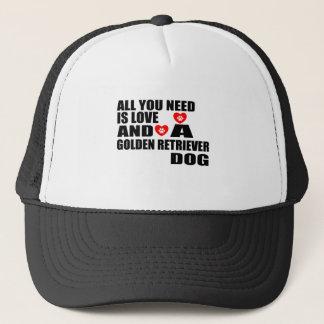 Boné Tudo você precisa o design dos cães do GOLDEN