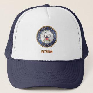 Boné U.S. Chapéu do camionista do veterano do marinho