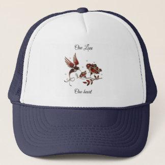 Boné Um amor, um chapéu de basebol do coração