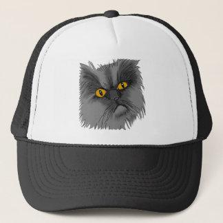 Boné Um vetor mal-humorado do gato