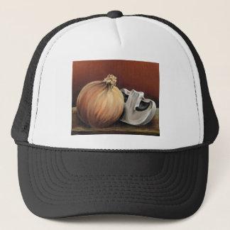 Boné Uma cebola e um cogumelo