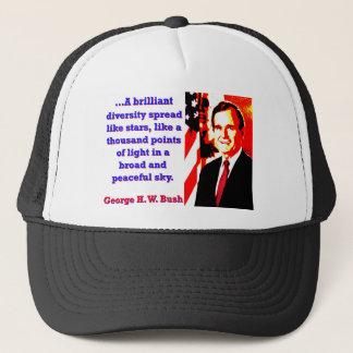 Boné Uma diversidade brilhante - George H W Bush